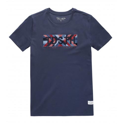 T-shirt Ezio Bleu Foncé Teddy Smith pour homme