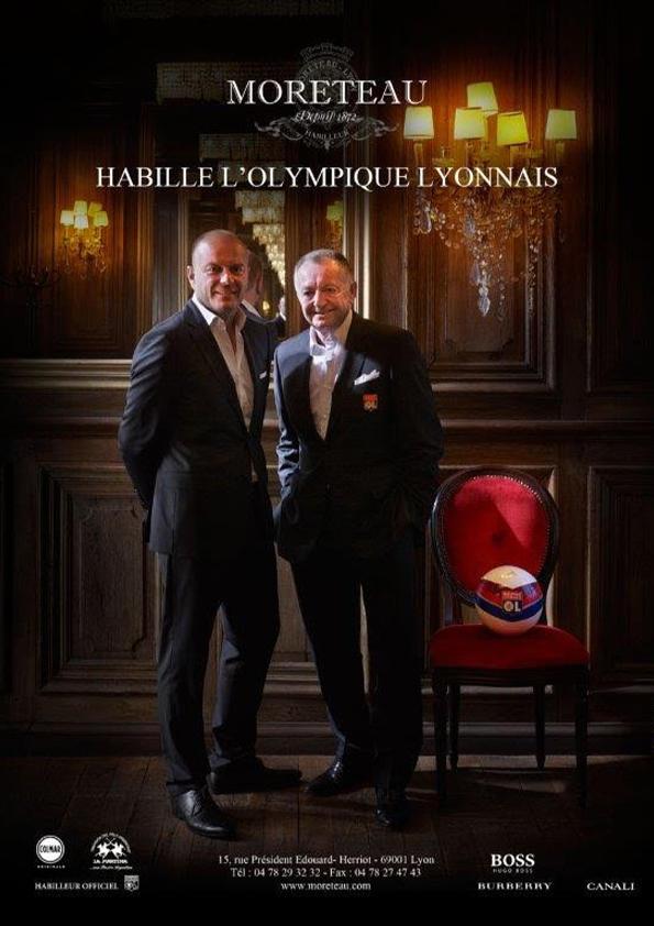 Jean michel aulas CEO de l'olympique Lyonnais avec Sébastient Le Guillou CEO SLG