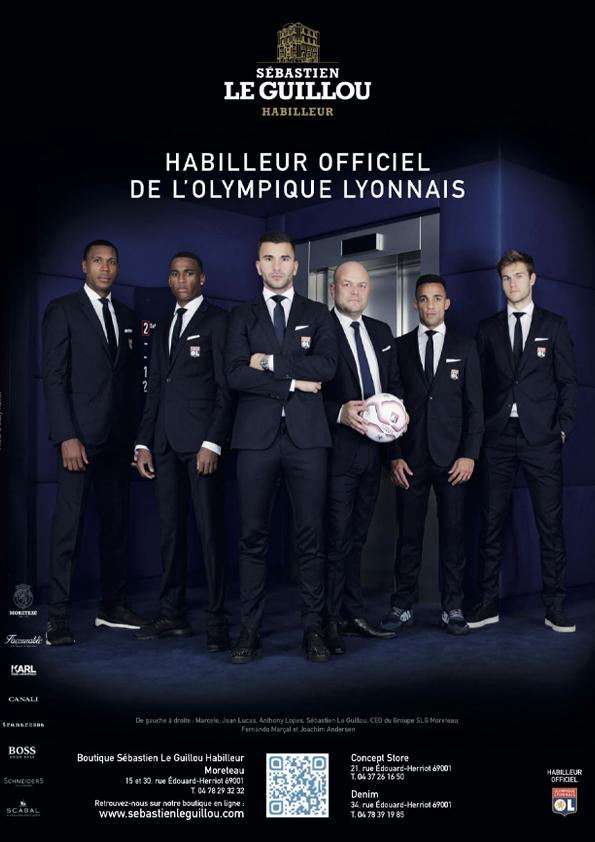 Les joueurs Lyonnais habillés par sebastien Le Guillou