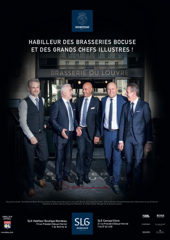 Paul Maurice Directeur Général Restaurant et Brasserie de Lyon Bocuse, Guy Savoy Chef étoilés, Jérôme Bocuse Président Restaurant et Brasseries de Lyon Bocuse, Sébastien Le Guillou CEO du Groupe SLG.