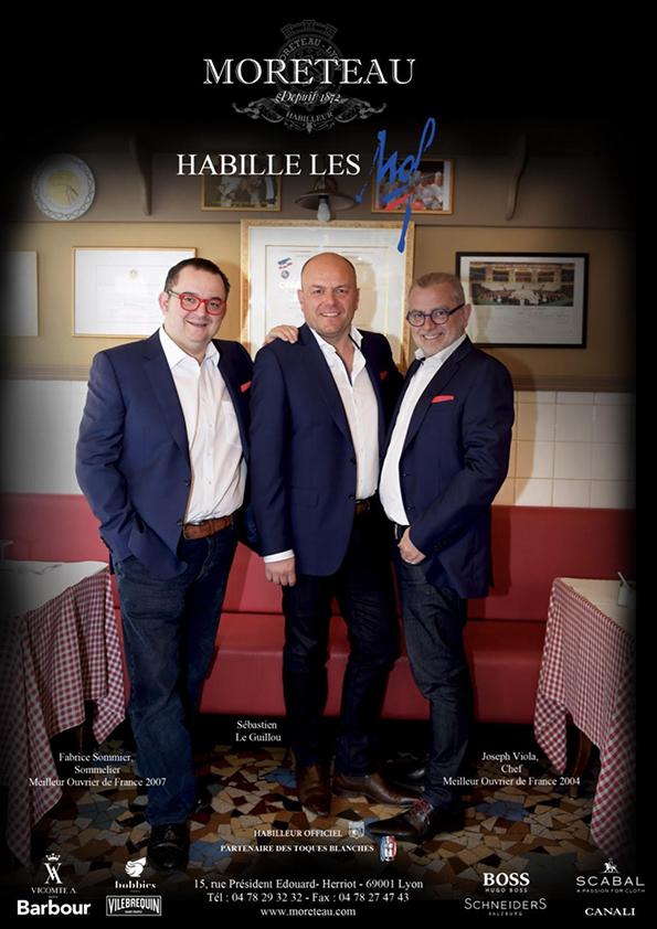 Les meilleurs ouvriers de France habillé par SLG Joseph VIOLA chef et Fabrice sommier sommelier