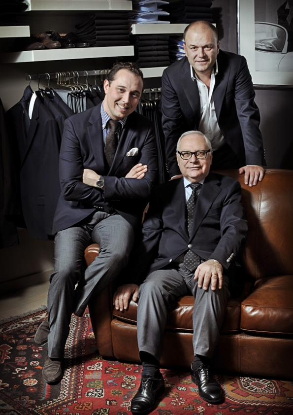 Paul Sebag et Philippe Billon avec Sebastien Le Guillou , les habilleurs Lyonnais de SLG